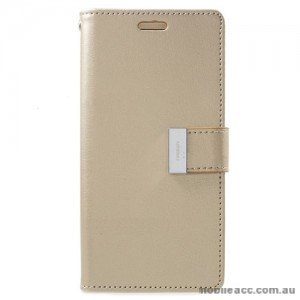 Mercury Rich Diary Wallet Case for Samsung Galaxy S9 - Gold