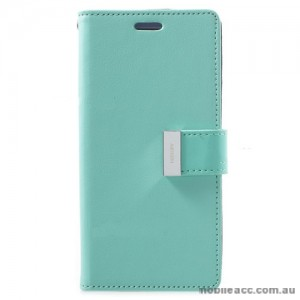 Mercury Rich Diary Wallet Case for Samsung Galaxy S9 - Mint