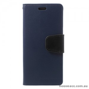 Mercury Goospery Sonata Diary Stand Wallet Case For Samsung Galaxy S9 Plus - Navy