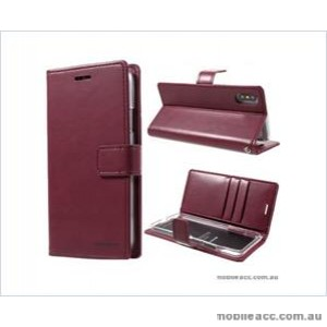 Korean Mercury Bluemoon Diary  Wallet Case For Samsung  Galaxy  S10 5G Red Wine