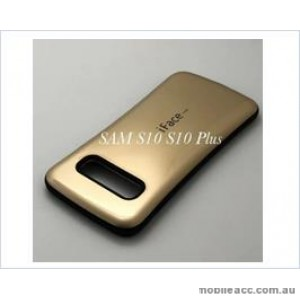Iface mall  Anti-Shock Case  For Samsung  Galaxy  S10  Plus Gold