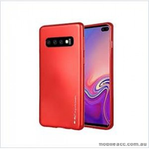 Korean Mercury  I-Jelly Case For Samsung  Galaxy  S10  Plus Red