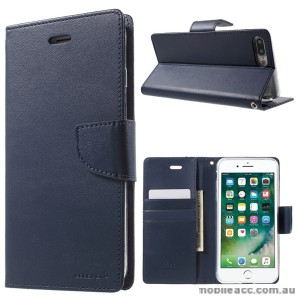 Korean Mercury Bravo Diary Wallet Case Cover For iPhone 7/8 Plus 5.5 inch - Navy