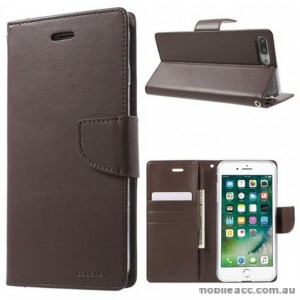 Korean Mercury Bravo Diary Wallet Case Cover For iPhone7+/8+ 5.5 inch - Brown