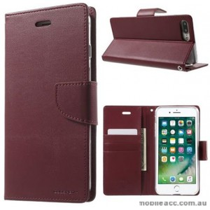 Korean Mercury Bravo Diary Wallet Case Cover For iPhone 7+/8+  5.5 inch - Ruby Wine