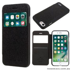 Korean Mercury WOW Window View Flip Cover For iPhone 7+/8+ 5.5 inch - Black