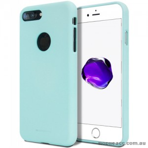 Genuine Mercury Goospery Soft Feeling Jelly Case Matt Rubber For iPhone 7 Plus - Mint