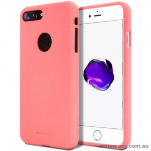 Genuine Mercury Goospery Soft Feeling Jelly Case Matt Rubber For iPhone 8 Plus - Coral