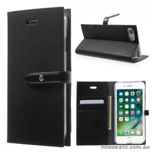 Mercury Goospery Romance Diary Wallet Case Cover For iPhone 7 - Black