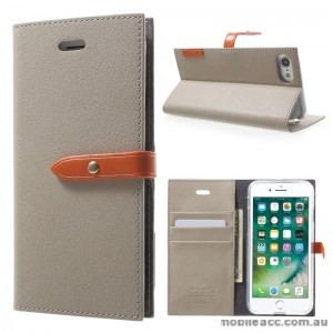 Mercury Goospery Romance Diary Wallet Case Cover For iPhone 7 - Grey