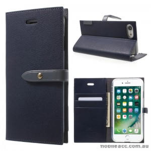 Mercury Goospery Romance Diary Wallet Case Cover For iPhone 7 - Navy