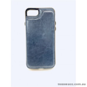 Luxury Leather Wallet Card Slot Holder Back Case Cover For iPhone 6/6S/7/8 - Navy