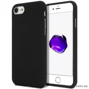 Genuine Mercury Goospery Soft Feeling Jelly Case Matt Rubber For iPhone 7/8 - Black