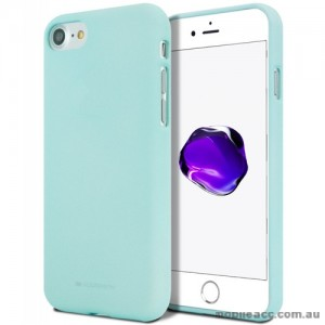 Genuine Mercury Goospery Soft Feeling Jelly Case Matt Rubber For iPhone 7/8 - Mint