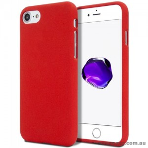 Genuine Mercury Goospery Soft Feeling Jelly Case Matt Rubber For iPhone 7/8 - Red