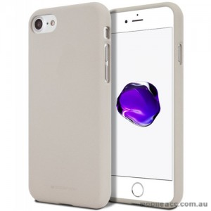 Genuine Mercury Goospery Soft Feeling Jelly Case Matt Rubber For iPhone 7/8 - Stone