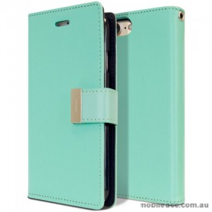 Mercury Rich Diary Wallet Case for iPhone X - Mint