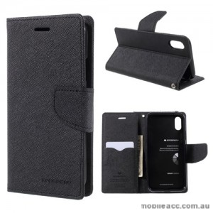 Korean Mercury Fancy Diary Wallet Case For iPhone X - Black
