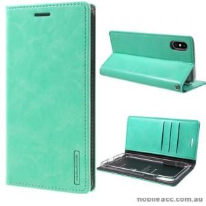 Korean Mercury Blue Moon Flip Case Cover For iPhone X - Mint