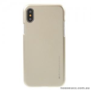 Mercury Goospery iJelly Gel Case For iPhone X - Gold
