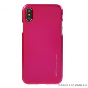 Mercury Goospery iJelly Gel Case For iPhone X - Hot Pink