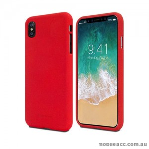 Genuine Mercury Goospery Soft Feeling Jelly Case Matt Rubber For iPhone X - Red