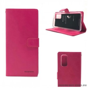 Bluemoon Diary Wallet Case For Samsung A51 6.5 inch  A515  Hotpink