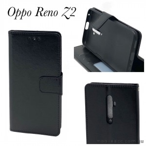 Wallet Pouch Cover for Oppo Reno Z2  Black