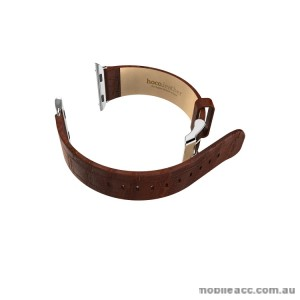 HOCO ART SERIES BAMBOO REAL LEATHER WATCHBAND FOR APPLE WATCH - BROWN