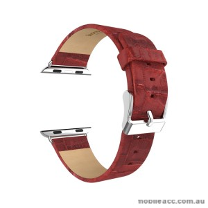 HOCO ART SERIES BAMBOO REAL LEATHER WATCHBAND FOR APPLE WATCH - RED