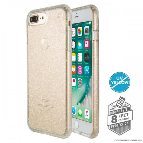 04446cad66b ORIGINAL Speck Presidio Clear Glitter Case for iPhone 7 Plus Clear with  Gold Glitter