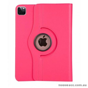 360 Degree Rotating Case for Apple iPad Pro 12.9 inch 2020  Hotpink