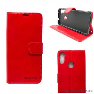 Mooncase Diary Wallet Case For Samsung A11 6.4 inch  A115 Red