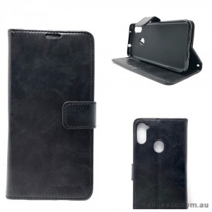 Mooncase Diary Wallet Case For Samsung A11 6.4 inch  A115 Black