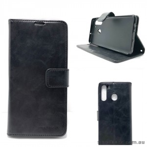 Mooncase Diary Wallet Case For Samsung A21 6.5 inch  A215 Black