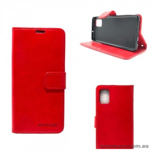 Mooncase Diary Wallet Case For Samsung A51 6.5 inch  A515  Red
