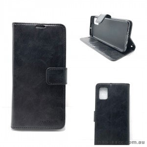 Mooncase Diary Wallet Case For Samsung A51 6.5 inch  A515  Black