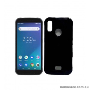 SR TPU Jelly Case Cover For Telstra  ZTE Tough MAX 3 T86  Black