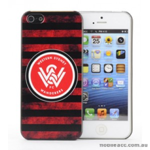 Licensed A-League Wester Sydney Wanderers Grunge Back Case for iPhone 5/5S