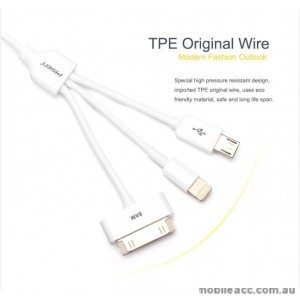 PISEN 3 in 1 Multifunctional Data Sync Charging Cable