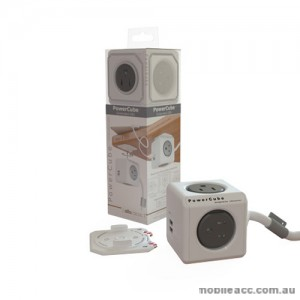 Allocacoc PowerCube with 2 USB & 4 Power Outlets Extended - 1.5m Cord