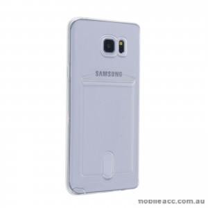 Card Slot TPU Back Case for Samsung Galaxy J1 Clear