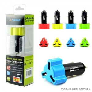 mbeat 3-port 4.8A 24W Super Car Charger