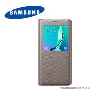 Original Samsung Galaxy S6 edge plus S View Cover Gold