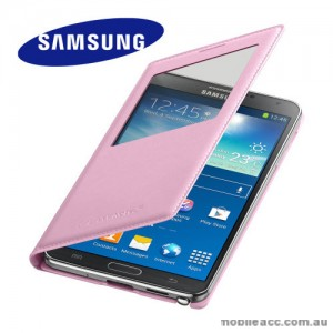 Genuine Samsung Galaxy Note 3 S-View Premium Flip Cover - Pink