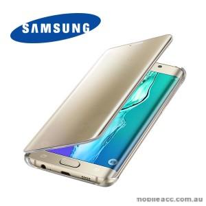 Original Samsung Galaxy S6 edge  Clear View Cover Gold