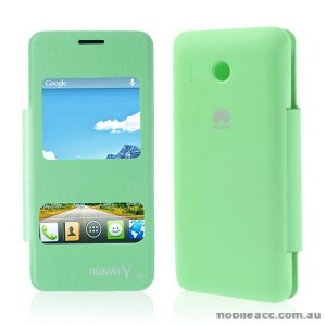 S View Flip Cover for Huawei Y320 - Green