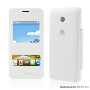 S View Flip Cover for Huawei Y320 - White