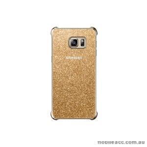 Original Samsung Galaxy S6 edge plus Glitter Cover Gold
