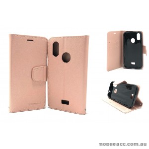 Mooncase fancy Diary  Wallet Case Cover For Telstra  ZTE Tough MAX 3 T86   Rose Gold